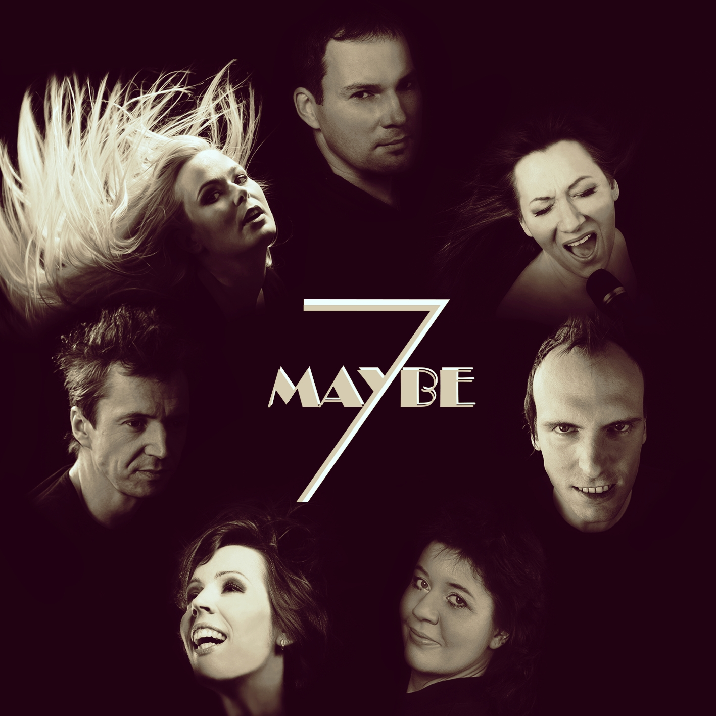 Maybe7 and logo sepia